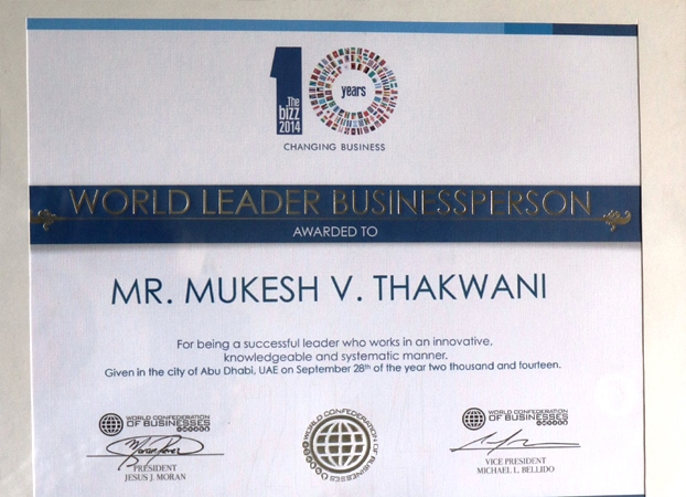 WORLD LEADER BUSINESS PERSON 2014 - Awards